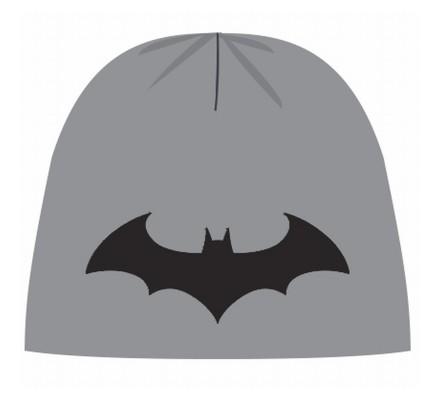 Bonnet Gris Classique Logo Noir Batman