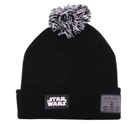 Bonnet Noir Bluetooth Pompom Star Wars