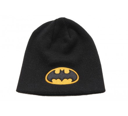 Bonnet Noir Classique Logo Jaune Batman