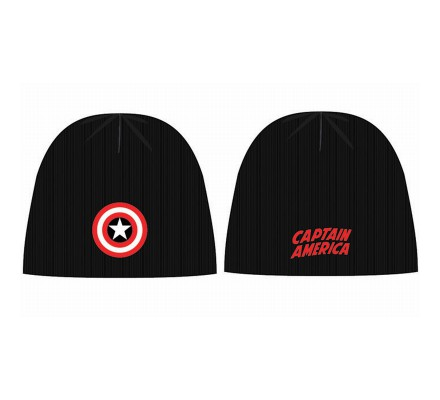 Bonnet Noir Shield Logo Captain America