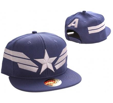 Casquette Bleue Baseball Star Wings Captain America