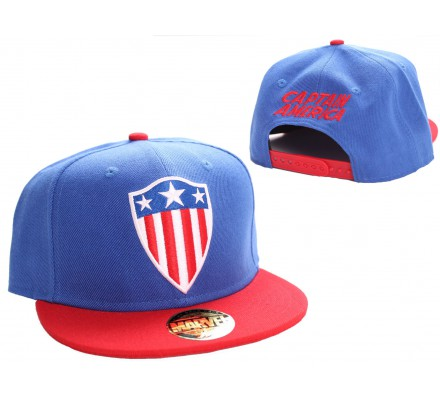 Casquette Bleue Retro Shield Captain America