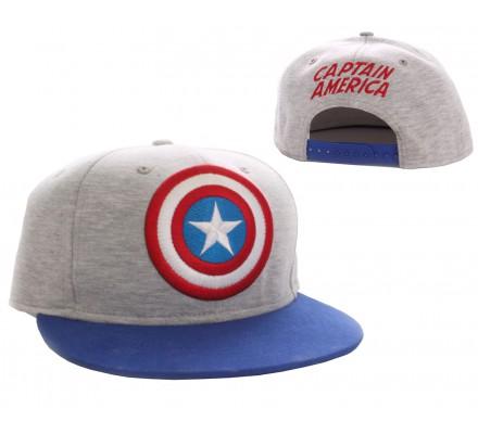 Casquette Grise Logo Captain America
