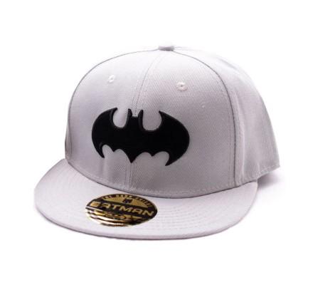 Casquette Grise Logo Noir Batman