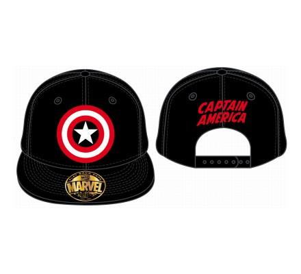 Casquette Noire Logo Captain America