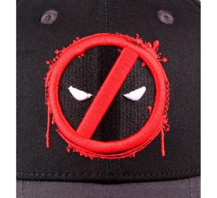 Casquette Noire Logo Rouge Splash Head Deadpool