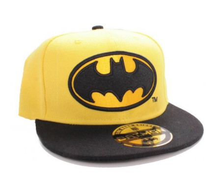 Casquette Snapback Jaune Logo Batman