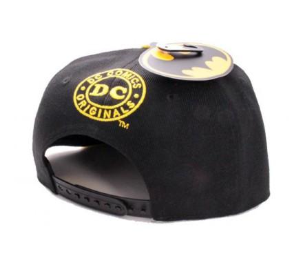 Casquette Snapback Noir Logo Jaune Batman