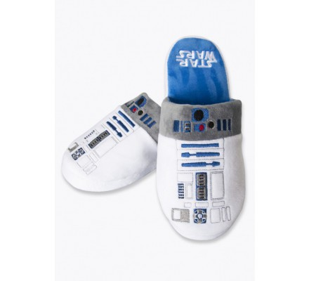 Chaussons Adulte Blancs R2D2 Star Wars