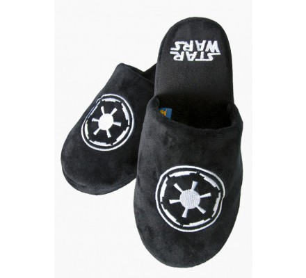 Chaussons Adulte Noirs Galactic Star Wars