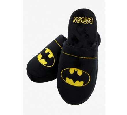 Chaussons Adulte Noirs Logo Batman