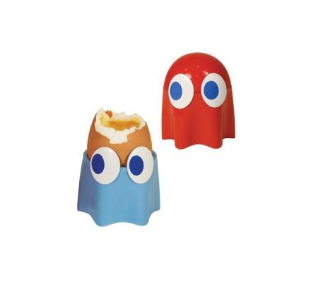 Coquetiers Fantômes Bleu et Rouge Pacman