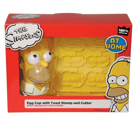 Coquetier et emporte pièce Homer Simpsons