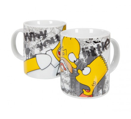 Mug Homer et Bart Why You Little Simpsons