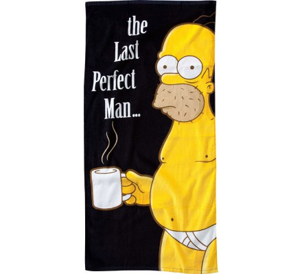 Serviette de bain Home 75*150 The Last Perfect Man Simpsons