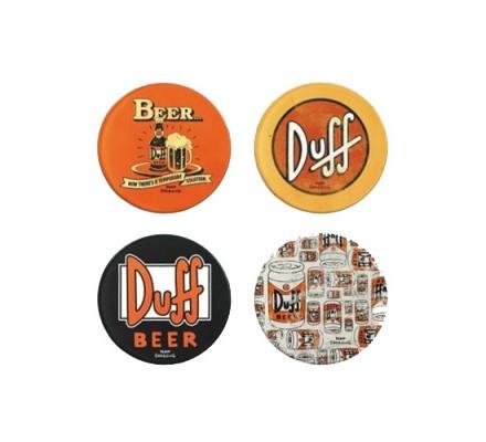 Set de 4 sous-verres Duff Simpsons
