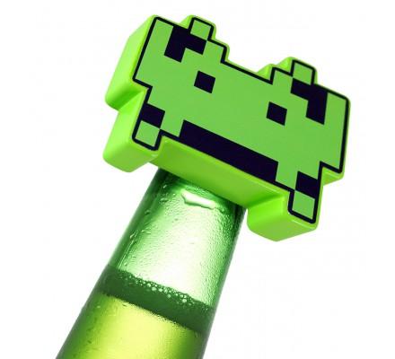 Décapsuleur vert Space Invaders
