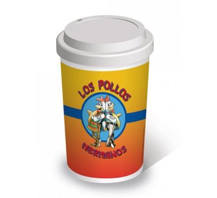 Mug Blanc de Voyage Los Pollos Breaking Bad