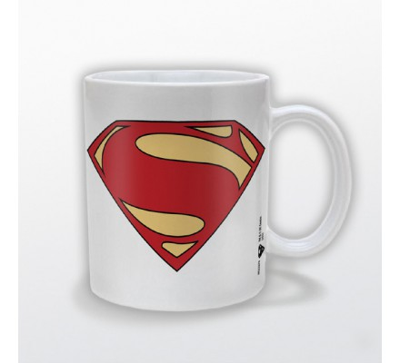 Mug Blanc Logo Man of Steel Superman