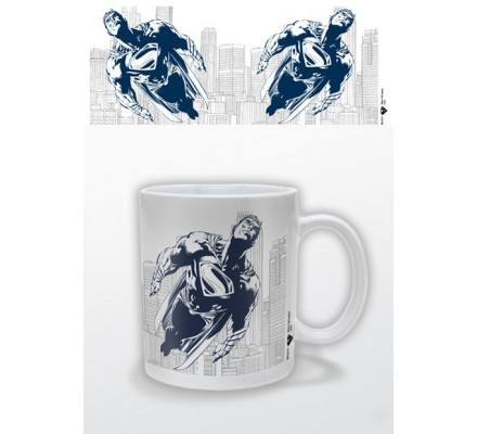 Mug Blanc Man of Steel Bleu Superman