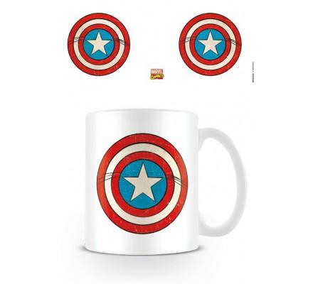 Mug Blanc Shield Captain America