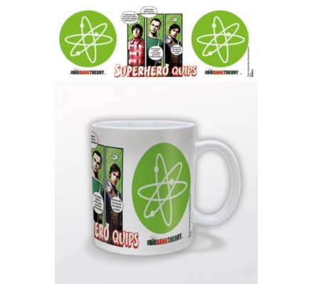 Mug Blanc Superhero quips The Big Bang Theory