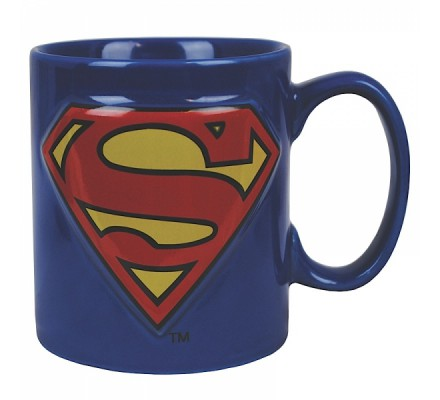 Mug Bleu 3D Logo Superman