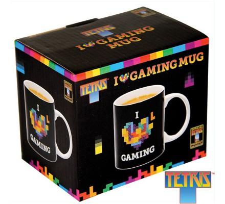 Mug Céramique Noir I Love Gaming Tetris
