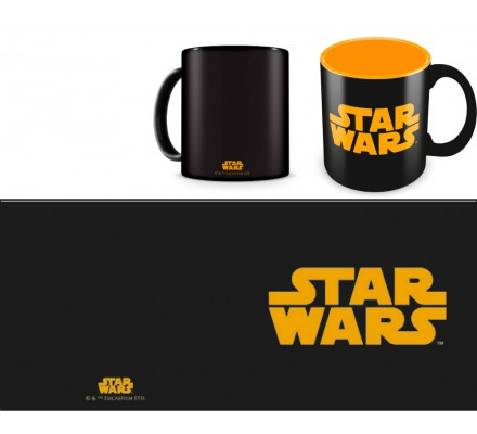 Mug Céramique Noir Logo Orange Star Wars