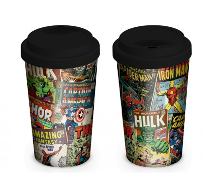 Mug de voyage Marvel Retro Covers
