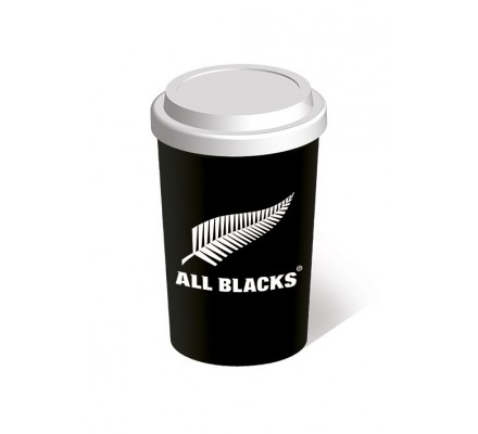 Mug de Voyage Noir et Blanc New Zealand Rugby