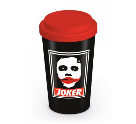 Mug de voyage Noir Obey The Joker Batman