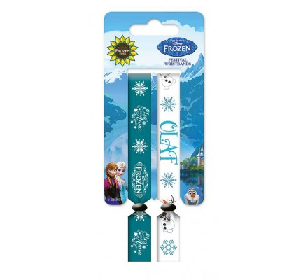 Pack de 2 Bracelets Elsa et Olaf Reine des Neiges