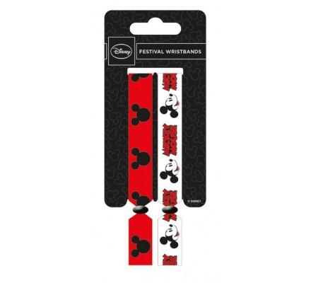Pack de 2 Bracelets Mickey Mousse Mickey et Minnie