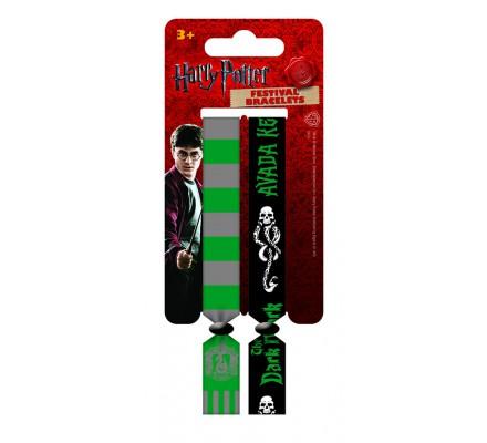 Pack de 2 bracelets Serpentard Harry Potter