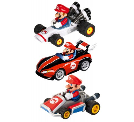 Pack de 3 Voitures à Friction Mario Kart 1/43 Nintendo