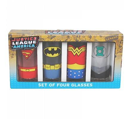 Pack de 4 Verres Justice League