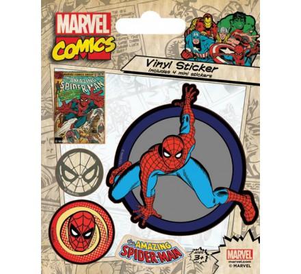 Pack de 5 Stickers Retro Spiderman