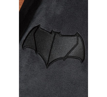 Peignoir Avec Capuche Gris Logo Batman VS Superman
