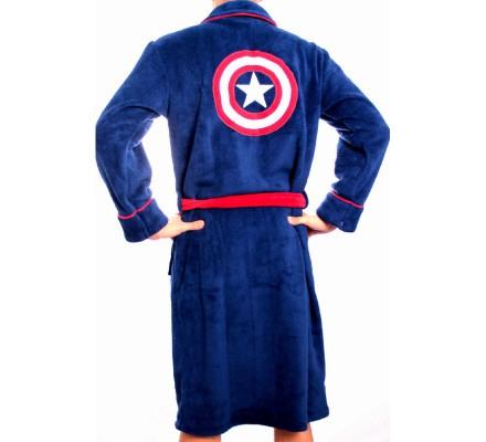 Peignoir Bleu Shield Logo Captain America