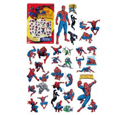 Planche de 35 Stickers 50 cm X 70 cm Spiderman