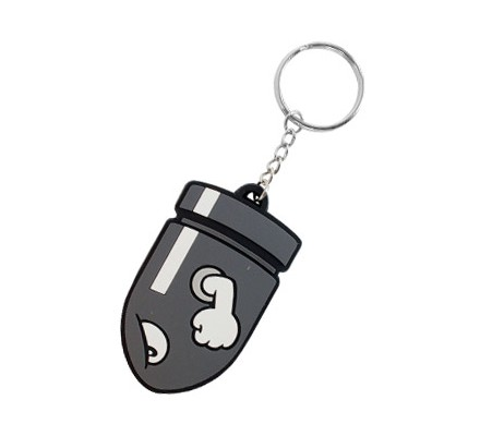 Porte-clés caoutchouc Bullet Bill 7 cm Nintendo