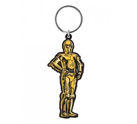 Porte-clés Caoutchouc C-3PO 6 cm Star Wars