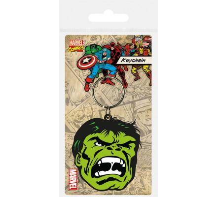 Porte-clés Caoutchouc Hulk Face