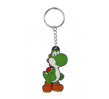 Porte-clés caoutchouc Yoshi 6 cm Nintendo