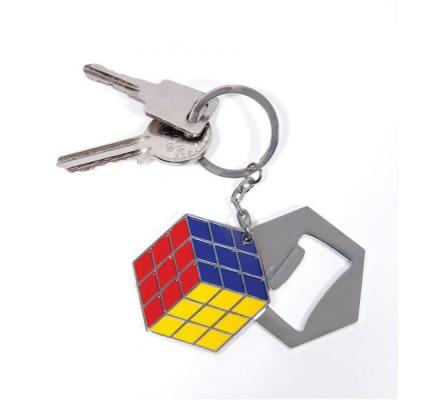 Porte-clés Décapsuleur Rubik's Cube Geek