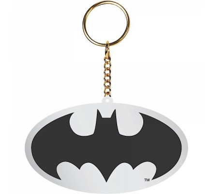 Porte-clés Gris Métal Logo Batman