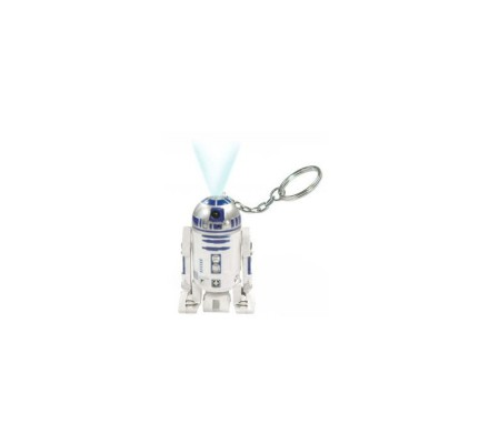 Porte-clés R2D2 3D Torche Laser bleue 5,5 cm Star Wars
