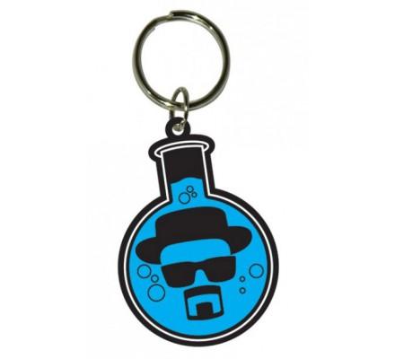 Porte-clés caoutchouc Heisenberg fiole bleu 6cm Breaking Bad