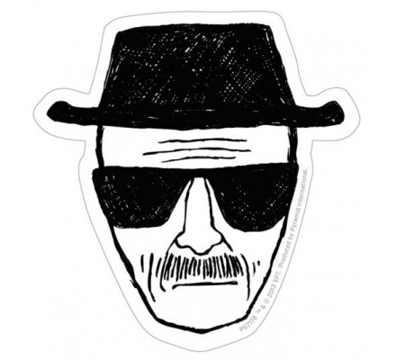 Sticker vinyle Heisenberg noir et blanc Breaking Bad